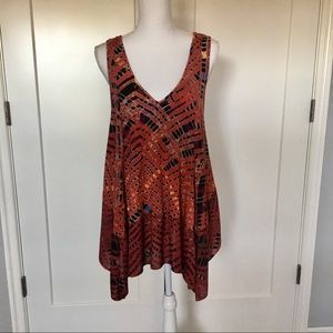 Free People | Red Day Dreamer Boho Tank Size M